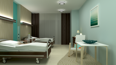 Angenehmes Ambiente Dank Trilux-Lichtkomponenten im Normalpflegebereich