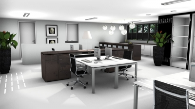 3D-Planung des Verwaltungsbereichs in der Medizinbranche