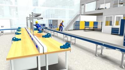 Perspektivische 3D-Darstellung von Lager- und Betriebseinrichtungen aus dem Hause SSI