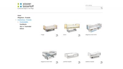 Onlinekatalog von wissner-bosserhoff mit dwg-Planungsdaten
